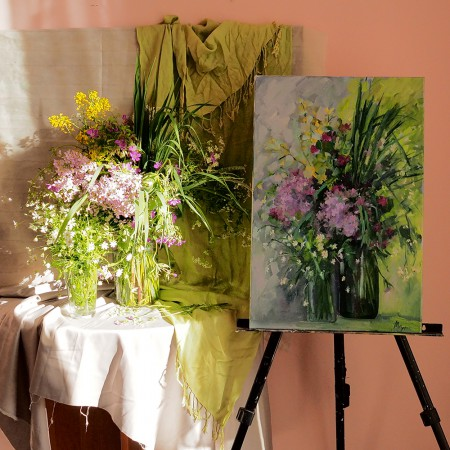 Курс живописи цветов с натуры «Творческие сезоны»