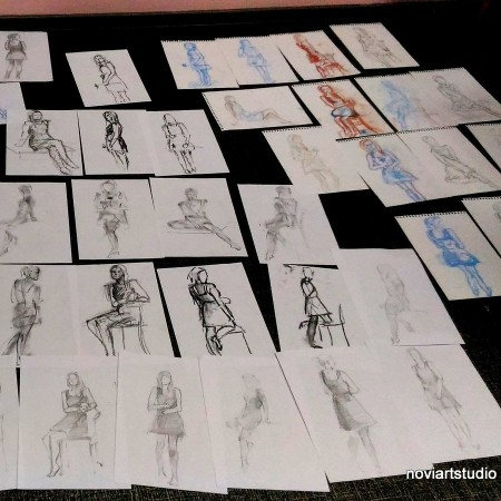 Наброски и зарисовки с натуры портрета и фигуры человека. Скетчинг.