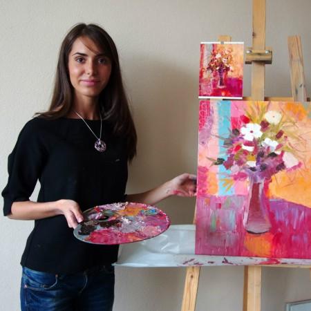 Мастер-класс по живописи маслом  «Картина в интерьер»