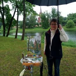 Пленэр в пригородах Санкт-Петербурга встречал дождем !