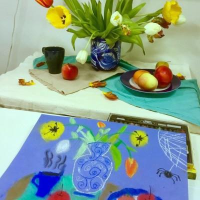 Идет набор детей 5 - 10 лет на уроки по живописи в Санкт-Петербурге.
